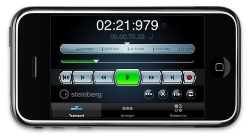Un iPhone ou un iPod touch pour commander Cubase 5 à distance.