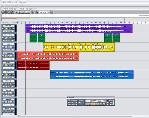 Séquenceur audio gratuit : Kristal Audio Engine