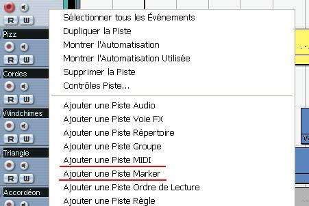 Piste Marqueur