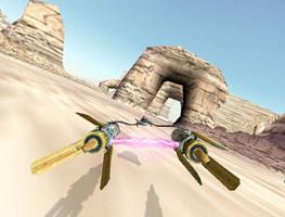 Star Wars Racer en borne arcade : réalisme et maniabilité ! avec la bande originale du film